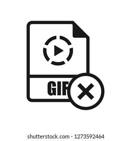 GIF Format Delete icon