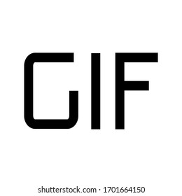 Gif icon. Play gif animation icon vector illustration isolated on white background