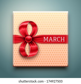 Gift for 8 March, Women's Day, eps 10.