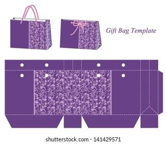shopping bag template vector illustration のベクター画像素材