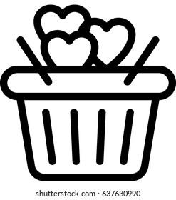 Gift Basket Vector Icon