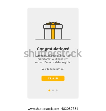 gift box card template ui ux stock vector royalty free 483087781