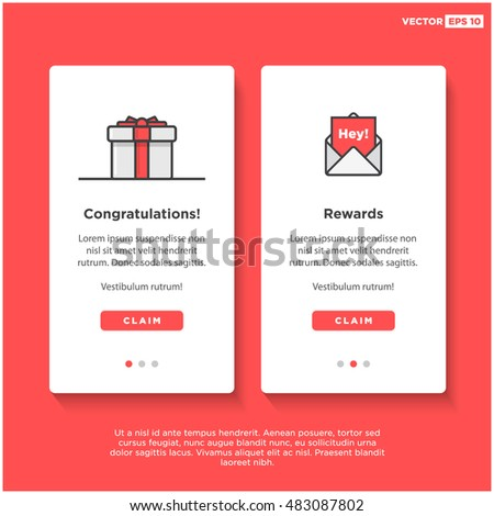gift box card template ui ux stock vector royalty free 483087802