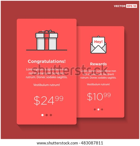 gift box card template ui ux stock vector royalty free 483087811