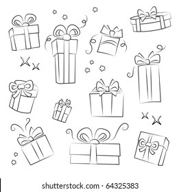 Sketch Gift Box Images Stock Photos Vectors Shutterstock