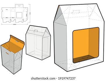 Gift Box and Die-cut Pattern. The .eps file is full scale and fully functional. Prepared for real cardboard production.