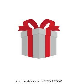Gift Box Flat Vector Illustration