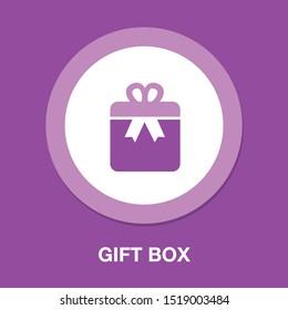 Gift box icon - birthday present