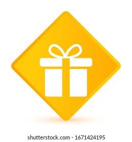 Gift Box icon design template. vector