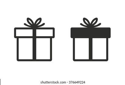 Gift Box  icon  on white background. Vector illustration.