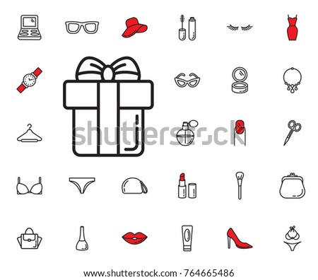 gift box icon on white background. Beauty, Cosmetic, Shopping and Makeup Vector Icons