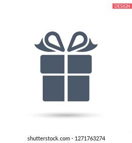 Gift box, icon. Vector  Eps 10