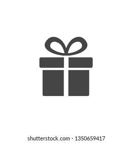 gift box icon. vector illustration