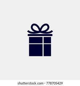 gift box icon, Vector illustration. present icon vector