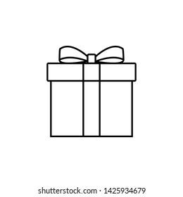 Gift Box Icon Vector Logo Template - Vector