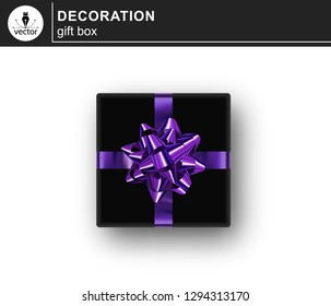 Gift box. Isolated realistic gift on white background.