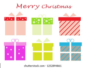 gift box for merry Christmas or celebration  vector
