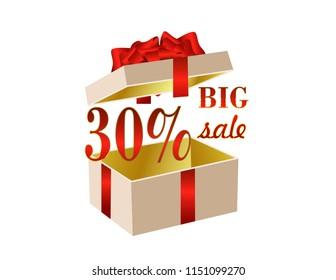 Gift box open Big sale
