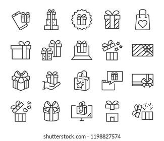 gift box set icons