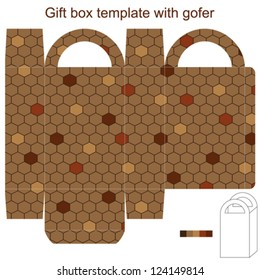 Gift box template with gofer