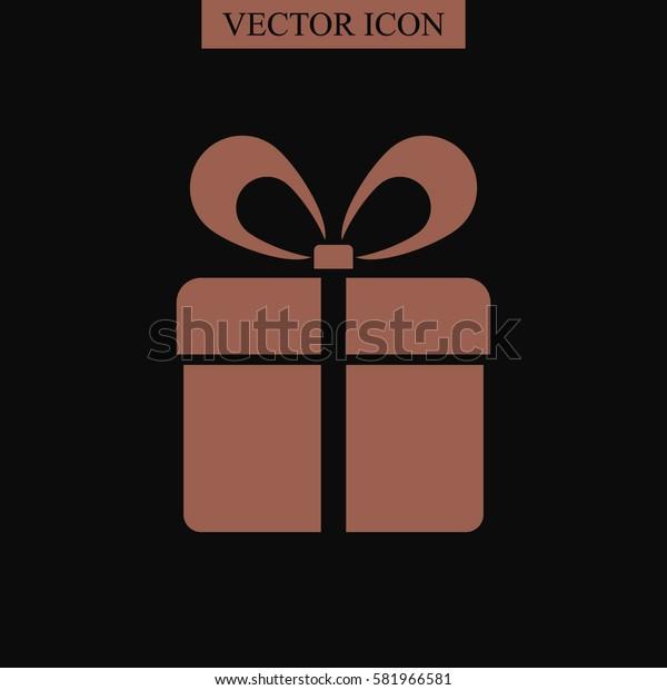 Gift box vector icon