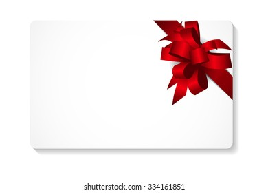 Gift Card with Bow and Ribbon Vector Illustration EPS10