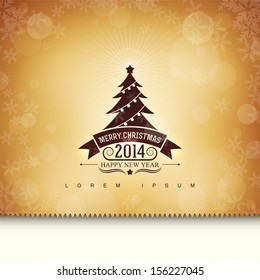Gift card with a Christmas tree.