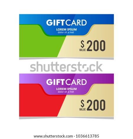 Gift card coupon business voucher template stock vector royalty gift card coupon business voucher template cheaphphosting Gallery