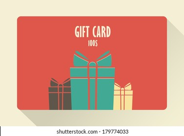 Gift Card. Flat style.