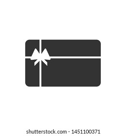 Gift card icon isolated on white background. Vector illustration. Eps 10.