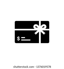 Gift card icon symbol vector on white background