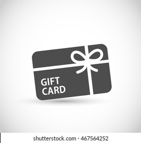 Gift card icon vector