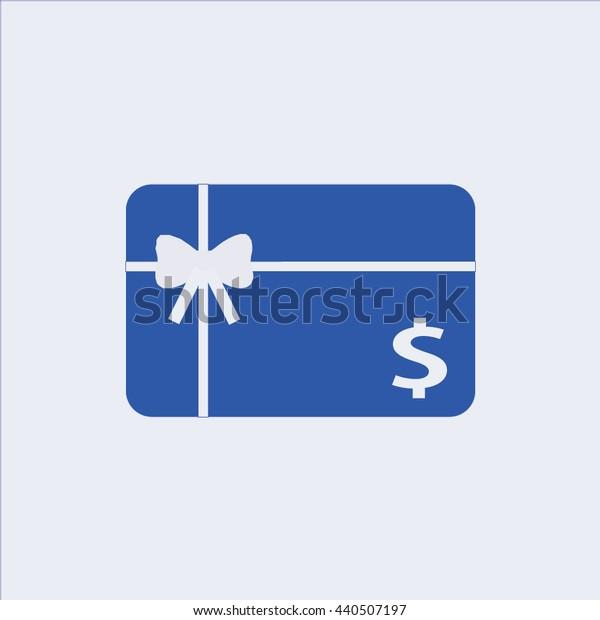 Gift card icon,gift icon, present icon, shopping card icon