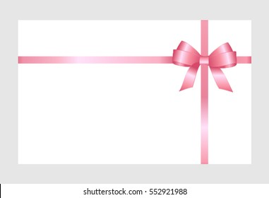 Invitation Greeting Gift Card Pink Ribbon Stock Vector Royalty Free