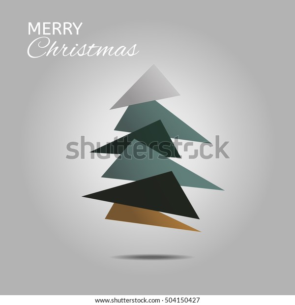 Christmas Gift Card Poster.Gift Card Poster Vector Background Christmas Stock Vector