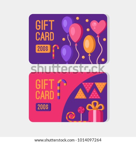gift card template discount coupon gift stock vector royalty free