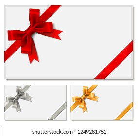 Gift Cards with Satin Ribbon Bow