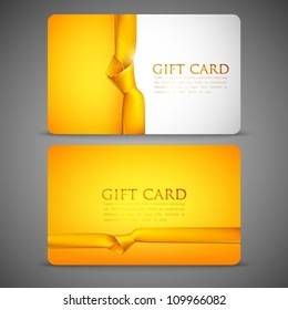 gift cards with yellow ribbons