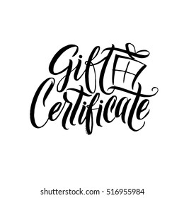 Gift certificate images stock photos vectors shutterstock gift certificate black calligraphy on white background vector illustration negle Images