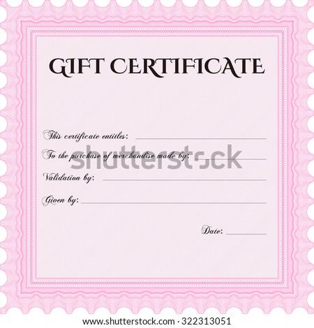 gift certificate customizable easy edit change stock vector royalty