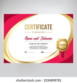 Gift certificate, design.  Red background for text placement
