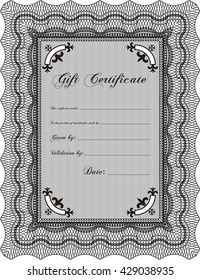 Gift certificate. Detailed. Easy to print. Nice design.