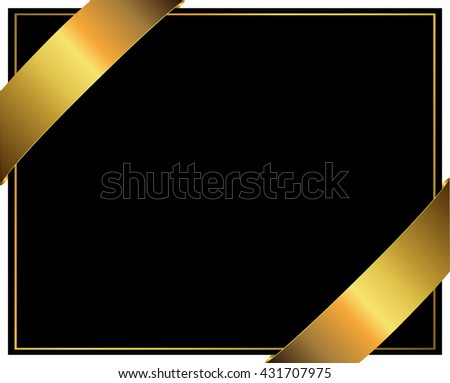 Gift Certificate Template Black Gold Vector Stock Vector Royalty