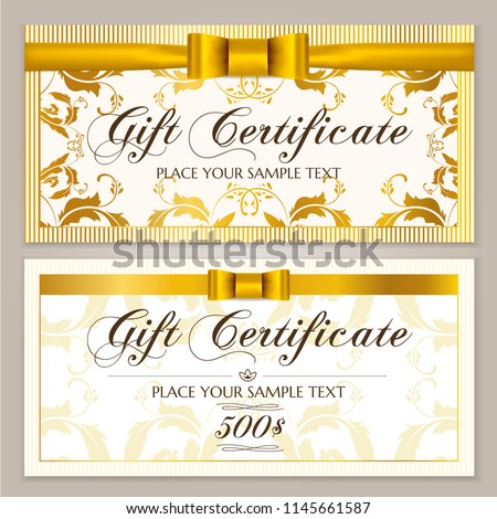 Gift Certificate Template Gift Voucher Layout Stock Vector Royalty