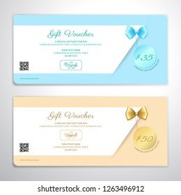 Gift certificate, voucher, gift card or cash coupon template for festive season