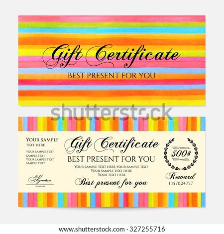gift certificate voucher coupon gift money stock vector royalty