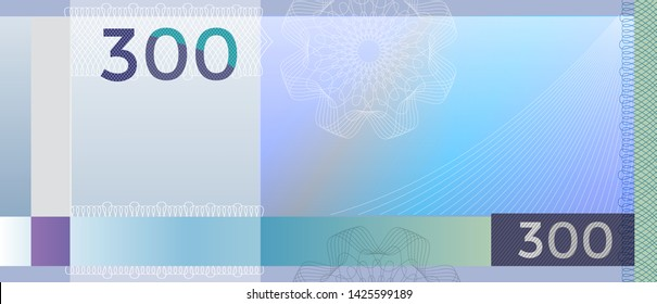 Gift certificate, Voucher, Coupon template with colorful guilloche pattern watermark . Background for banknote,