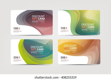 Gift, discount and business card template,Vector illustration