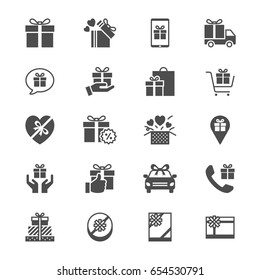 Gift flat icons