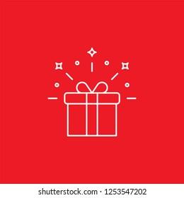 Gift flat vector icon. Present flat vector icon